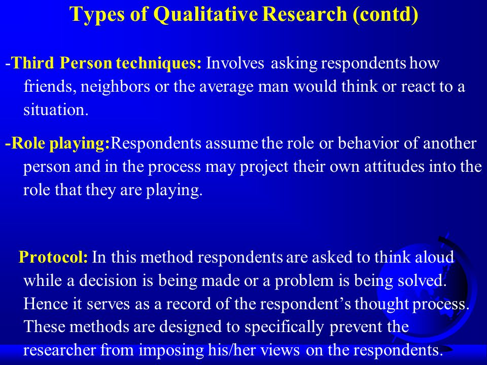 Types of Qualitative Research (contd)