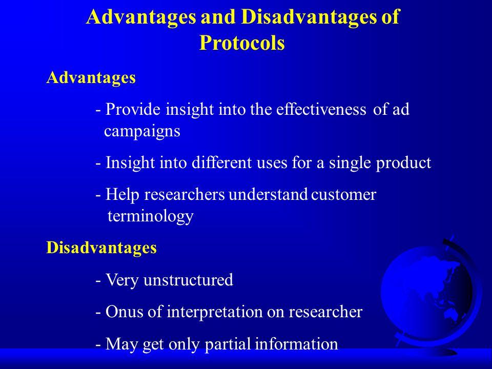 Advantages and Disadvantages of Protocols