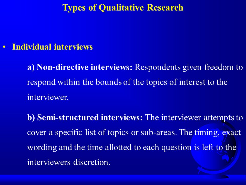 Types of Qualitative Research