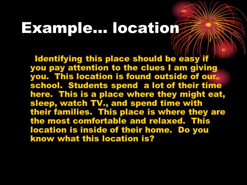 Example… location