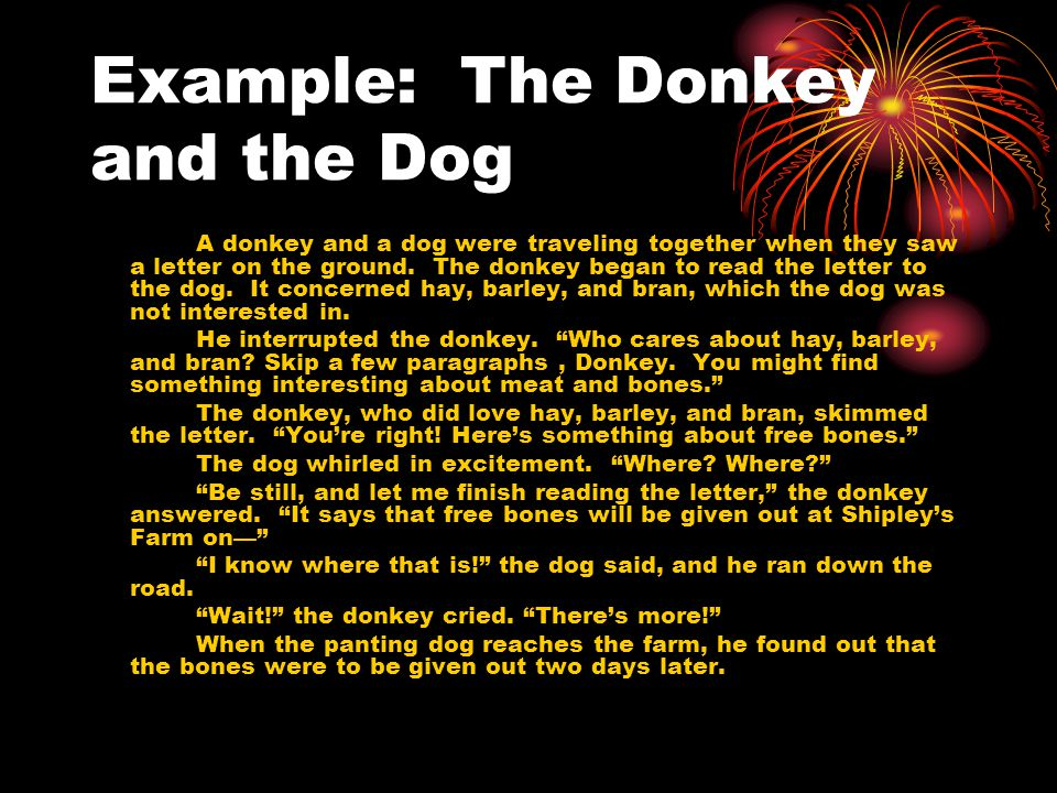 Example: The Donkey and the Dog