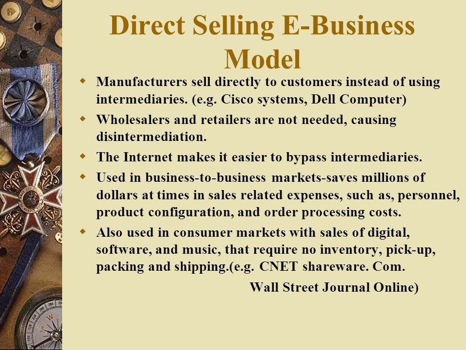 Direct Selling E-Business Model