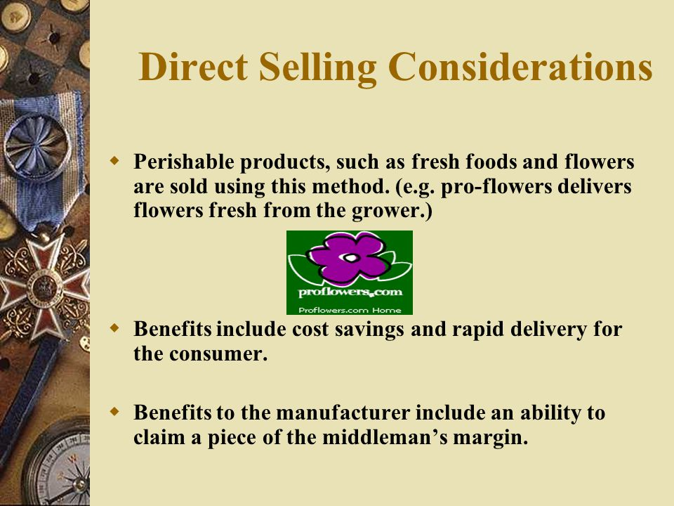 Direct Selling Considerations