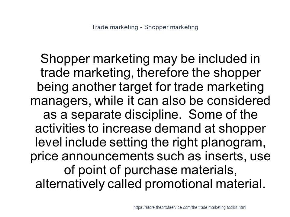 Trade marketing - Shopper marketing