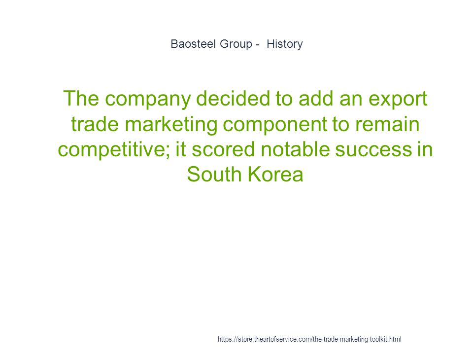 Baosteel Group - History