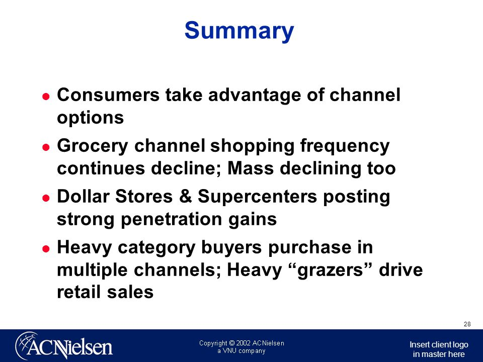 Summary Consumers take advantage of channel options