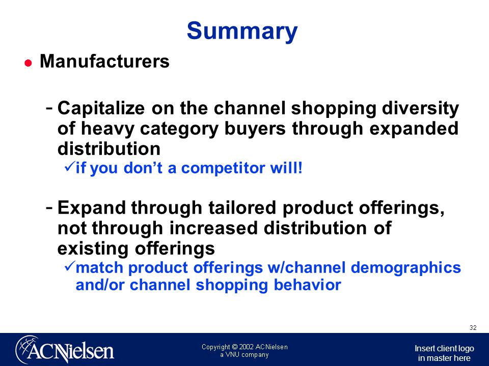 Summary Manufacturers