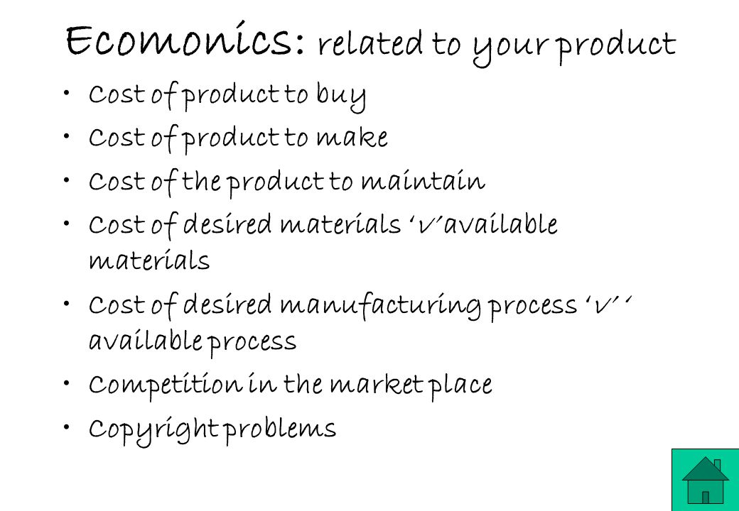 Ecomonics: related to your product