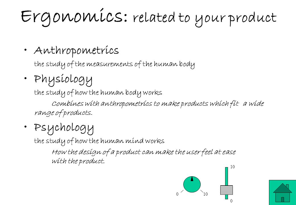 Ergonomics: related to your product