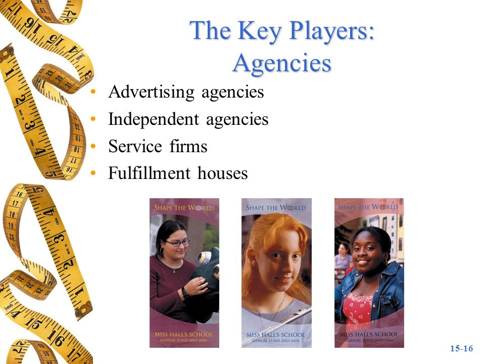 The Key Players: Agencies