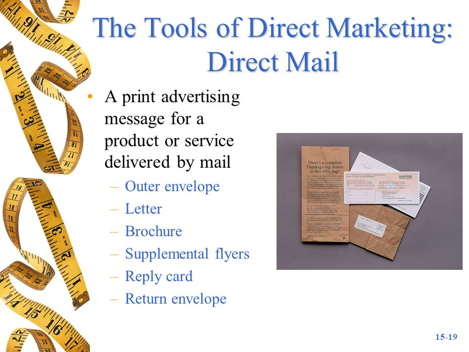 The Tools of Direct Marketing: Direct Mail