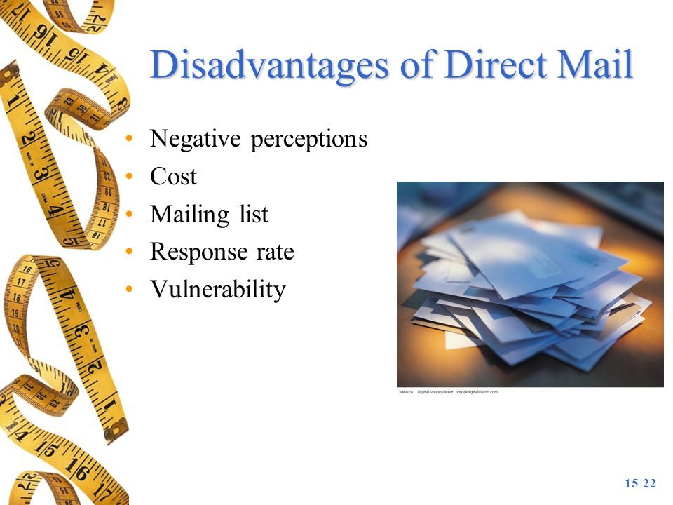 Disadvantages of Direct Mail