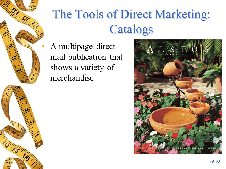 The Tools of Direct Marketing: Catalogs