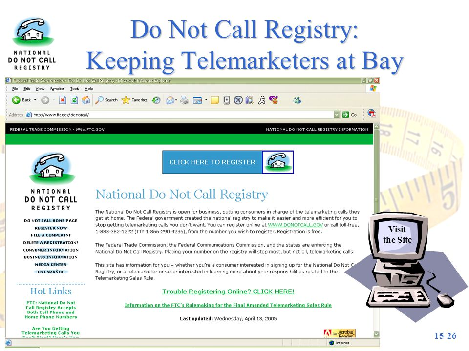 Do Not Call Registry: Keeping Telemarketers at Bay