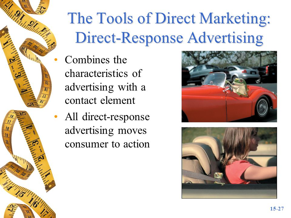 The Tools of Direct Marketing: Direct-Response Advertising