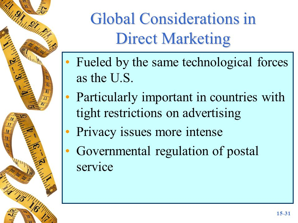 Global Considerations in Direct Marketing
