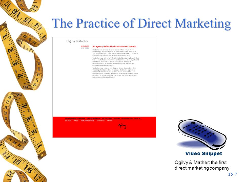 The Practice of Direct Marketing