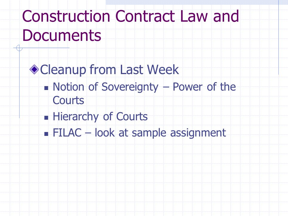 Construction Contract Law and Documents