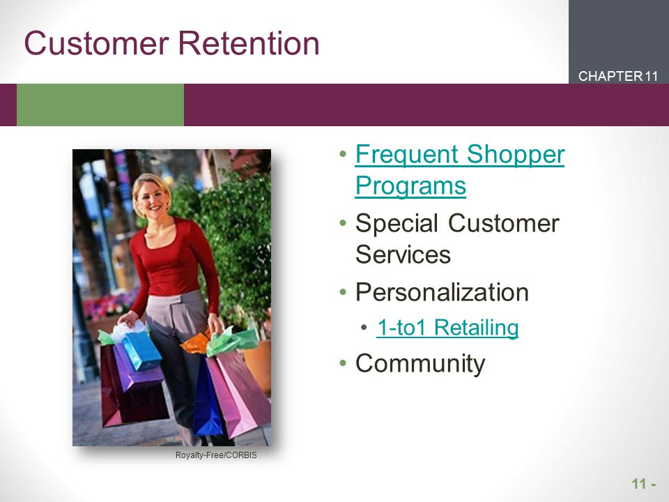 Customer Retention Frequent Shopper Programs Special Customer Services