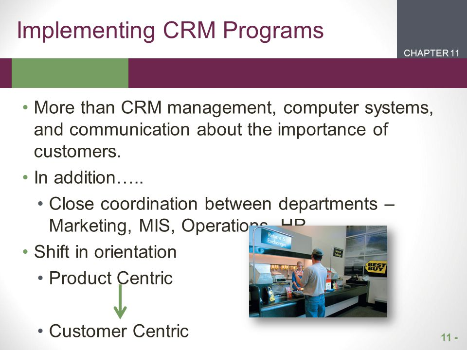 Implementing CRM Programs