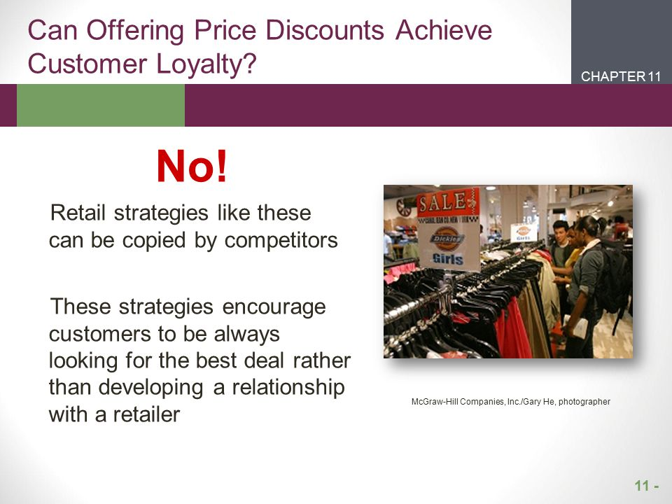 Can Offering Price Discounts Achieve Customer Loyalty