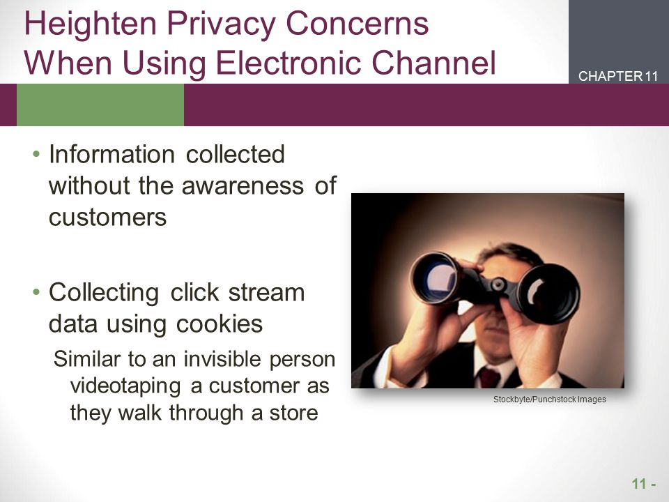 Heighten Privacy Concerns When Using Electronic Channel