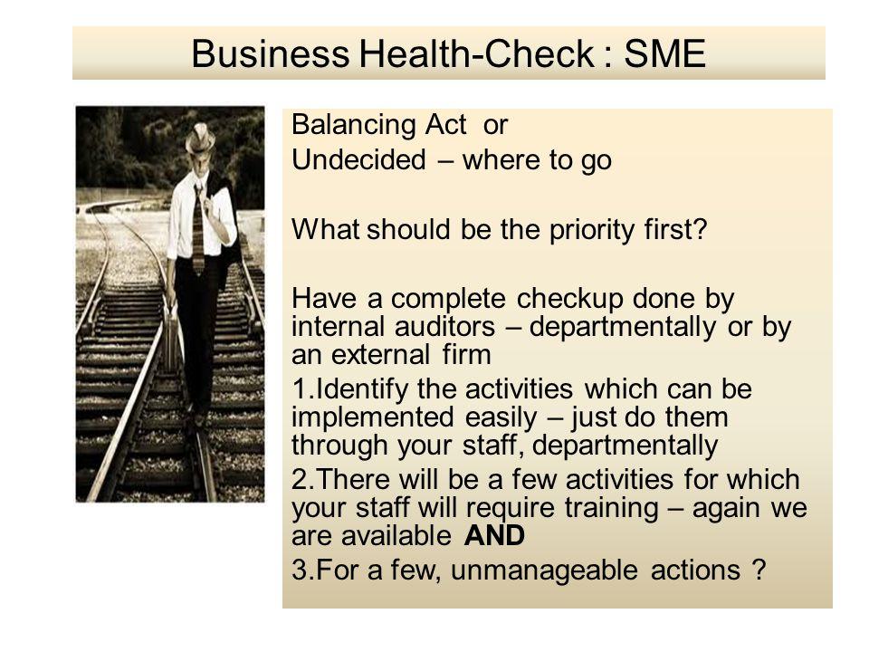 Business Health-Check : SME