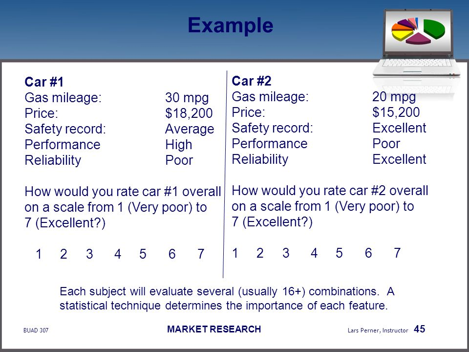 Example Car #1 Car #2 Gas mileage: 30 mpg Gas mileage: 20 mpg