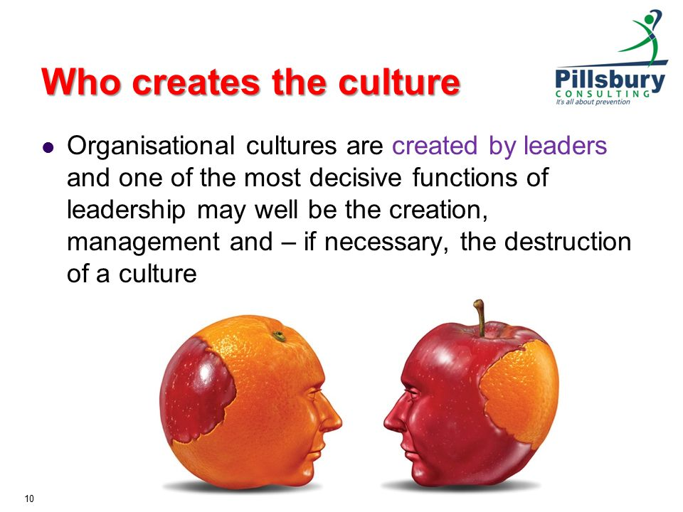 Who creates the culture