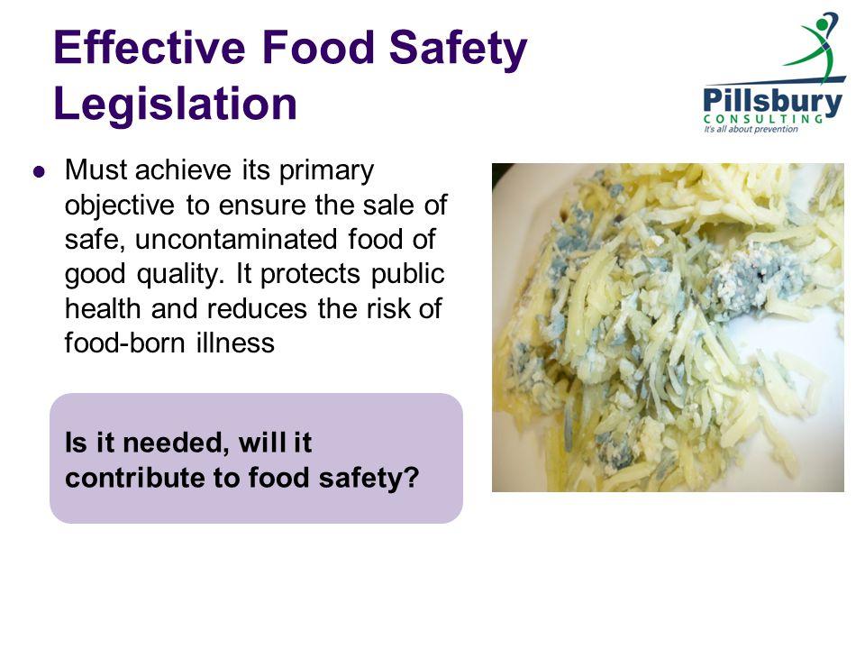 Effective Food Safety Legislation
