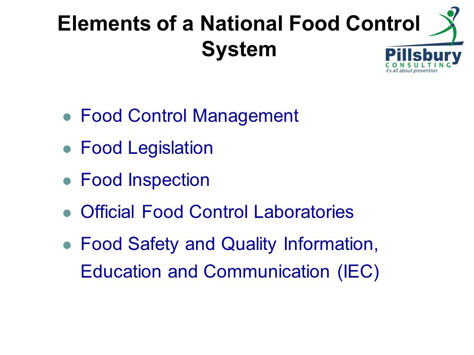 Elements of a National Food Control System