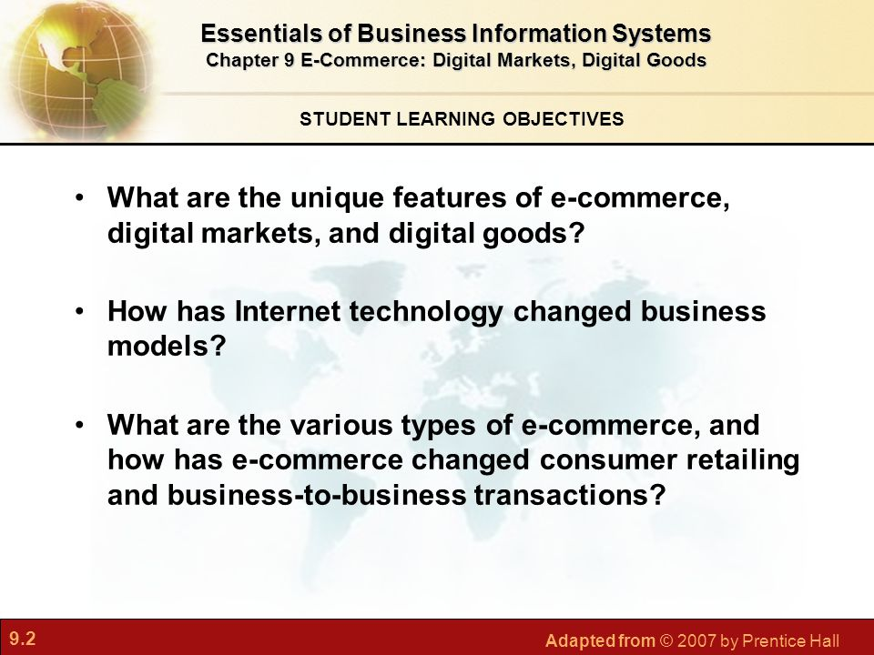 How has Internet technology changed business models