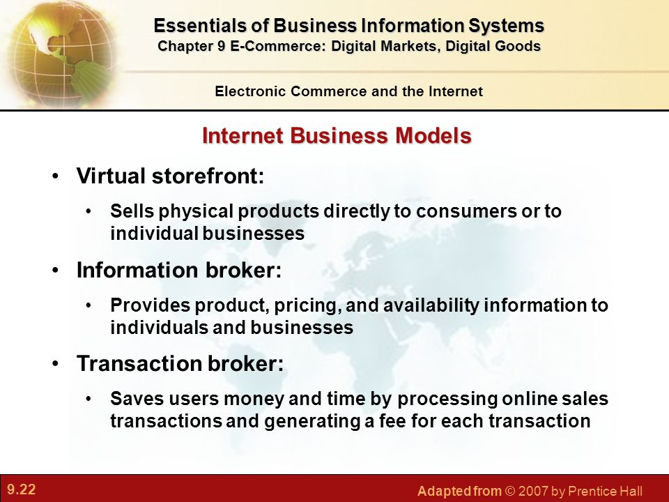 business models for electronic markets This article found that research perspective of representation models of e-commerce business model mostly concentrated on value creation perspective and there are.