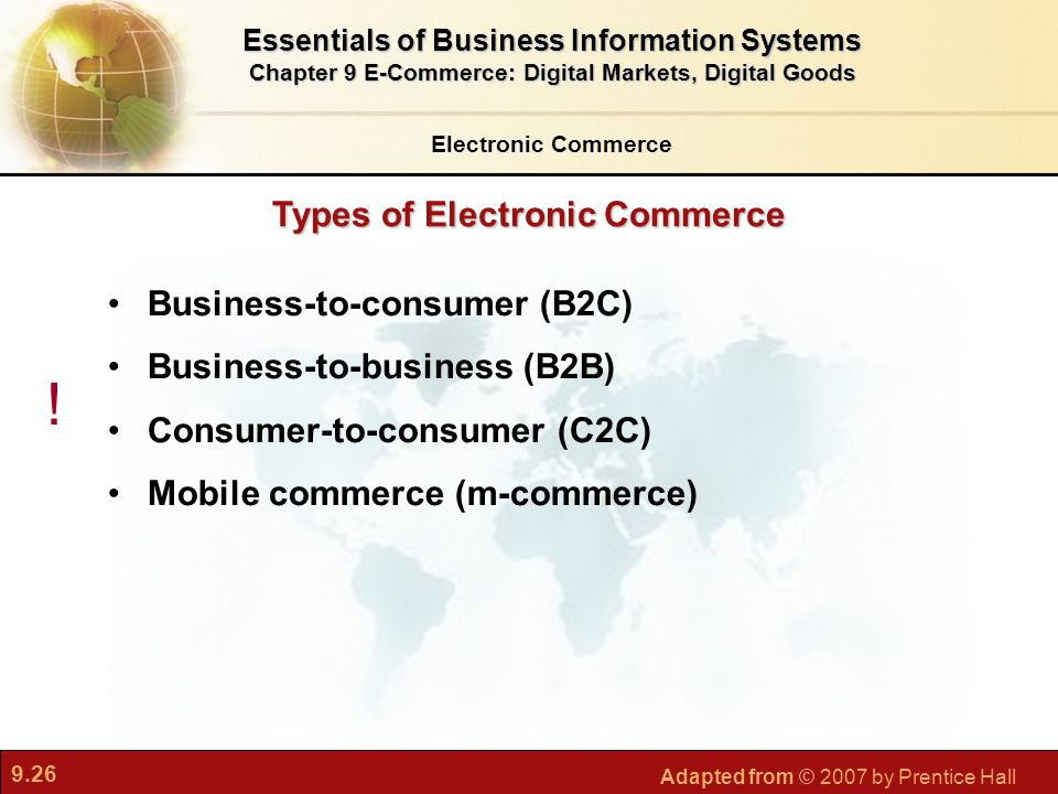 ! Types of Electronic Commerce Business-to-consumer (B2C)