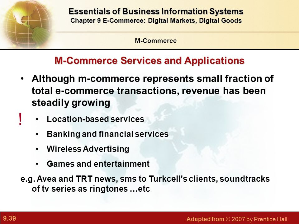 ! M-Commerce Services and Applications