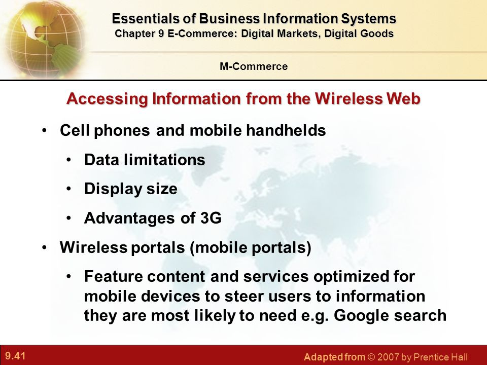 Accessing Information from the Wireless Web