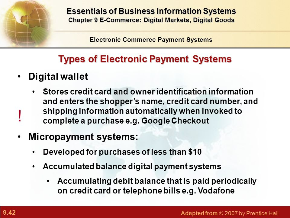 ! Types of Electronic Payment Systems Digital wallet