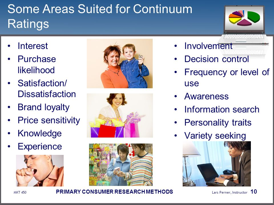 Some Areas Suited for Continuum Ratings