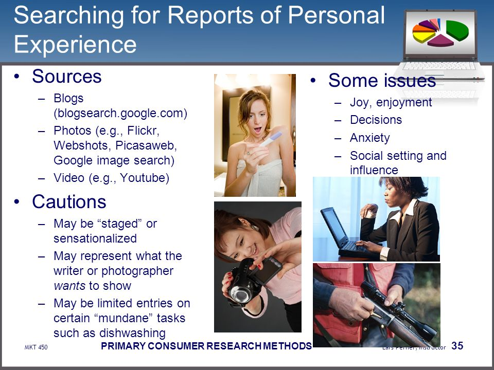 Searching for Reports of Personal Experience