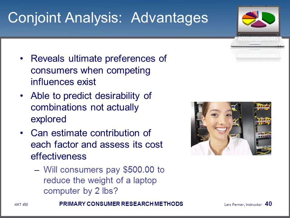 Conjoint Analysis: Advantages