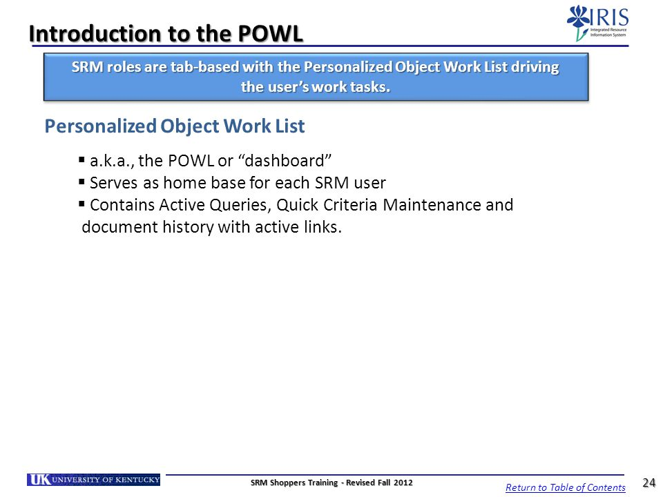 Introduction to the POWL