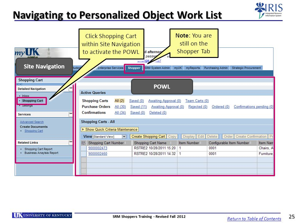 Navigating to Personalized Object Work List