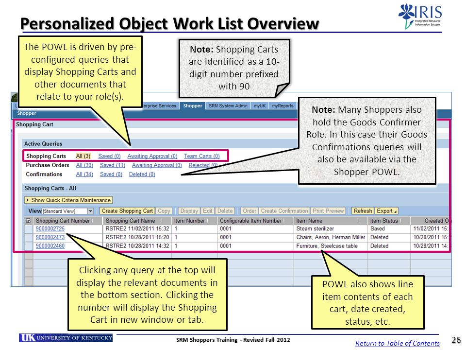 Personalized Object Work List Overview
