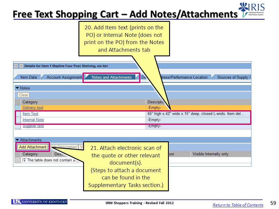Free Text Shopping Cart – Add Notes/Attachments