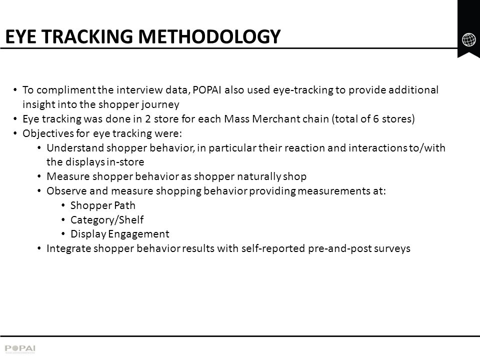 EYE TRACKING METHODOLOGY