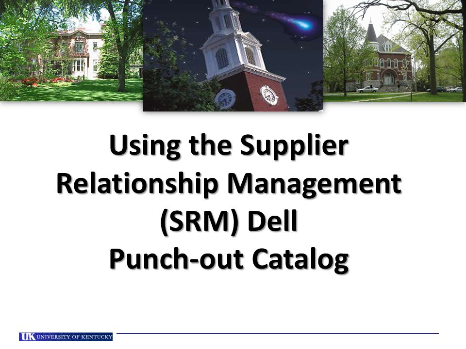 Using the Supplier Relationship Management (SRM) Dell Punch-out Catalog