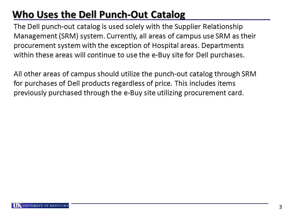Who Uses the Dell Punch-Out Catalog