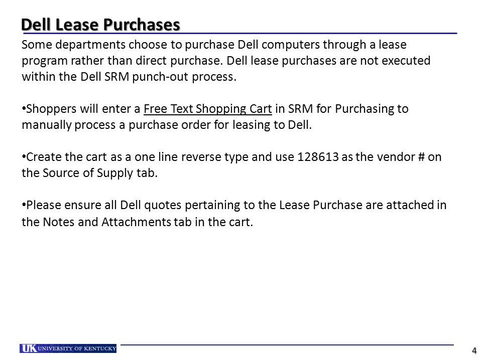 Dell Lease Purchases
