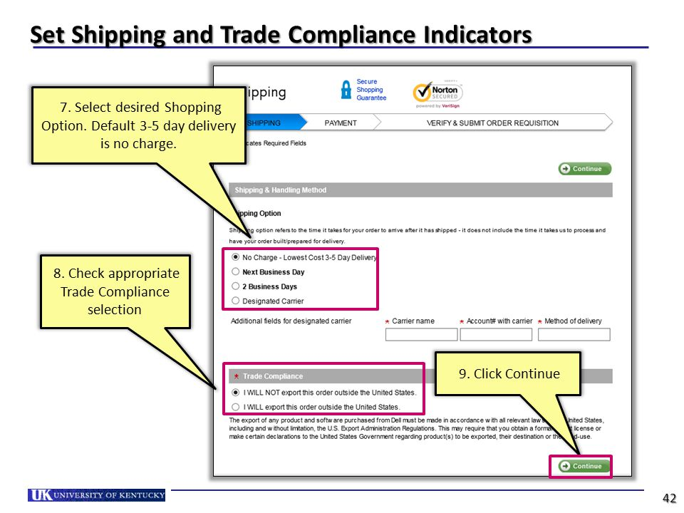 Set Shipping and Trade Compliance Indicators