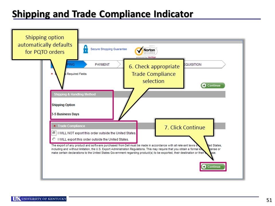 Shipping and Trade Compliance Indicator